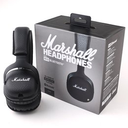 Wholesale Mid Wireless - Marshall MID headphones Bluetooth On-Ear Marshall MID Headphone Headset AAA quality With Retail Package Black Color