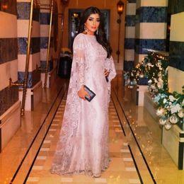 Wholesale High Collar Lace Bolero Jacket - Arabic Abaya Lace Long Evening Dresses 2017 Middle East Formal Party Gowns with Wrap Bolero Vestidos Dubai Prom Dress Custom Made