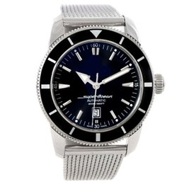 Wholesale Top Selling Mechanical Watches - Christmas Gift Hot Sell Luxury Black Dial Mens Automatic Watch A17320 Stainless Steel Bracelet AAA Top Quality Mens Sport Wrist Watches