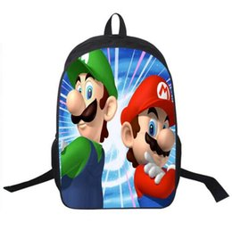 Wholesale Super Mario Backpacks For Kids - 2016 Hot Sale Children's 3D Cartoon Backpack Cool Outdoor Super Mario School Backpack for Kids Mario Bros Shoulder Bags for Boys