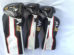 Wholesale head driver - M2 Wood Set M2 Golf Wood Set Golf Clubs Driver + Fairway Woods Regular or Stiff Graphite Shaft With Head Cover