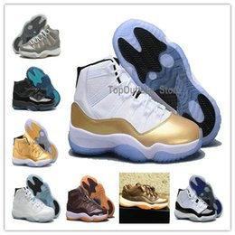 Wholesale Stretch Fabric Womens Shoes - Retros 11s Retro 11 Low XI Closing Ceremony Metallic Olympic Gold Womens Mens Basketball Shoes Wholesale Fashionable Athletic Sneakers wool