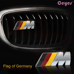 Wholesale Grill M3 - Car 3D Metal Front Grill Badge for BMW M F20 F10 F15 F13 M3 M5 M6 Car Emblems logo Stickers