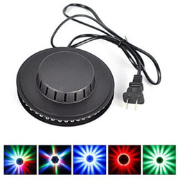 Wholesale Multi Effects Light - Sunflower 48LED RGB Bar Party Disco DJ Effect Light Stage Lighting Party Auto Rotating Club Dazzling Light Party Decoration CCA7592 50pcs