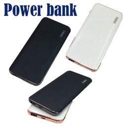 Wholesale Slim Portable Battery Charger - Powerbank 20000mah Ultra-thin Slim Power Bank Phone Charger Portable External Battery Polymer Book for iPhone 7 mobile phone Tablet PC