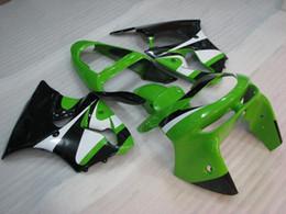 Wholesale 99 Ninja Zx6r Fairing Kits - Plastic Fairings 636 Zx-6r 1999 Bodywork Ninja Zx-6r 98 Green White Black Fairing Kits Zx6r 99 1998 - 1999