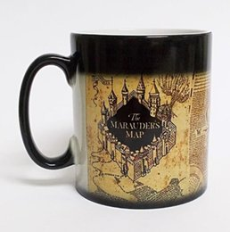 Wholesale Heat Maps - Harry Potter Magic mugs Marauders Map mischief managed mug color Changing Heat Reactive Coffee cup mugs KKA1778