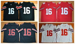 Wholesale Boys Size 16 - American Football college stitched mens sports Jerseys 2016 Final J. T. Barrett #16 Ohio State Buckeyes embroidery size S-5XL