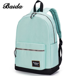 Wholesale Contrast Color Bags - Wholesale- 2016 Korean Fashion Backpack Schoolbag Preppy Style School Rucksacks For Girls Teenager Cool Contrast Color Bag