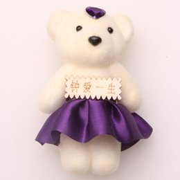Wholesale Soap Manufacturers - Soap flower simulation bouquets of roses dedicated set auger cartoon bear doll doll wholesale plush toys manufacturers