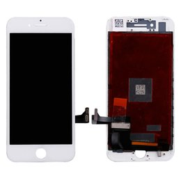 Wholesale iphone full repair - Lifetime Warranty A+++ Quality For iphone7 iphone 7 7G 4.7 inch Full LCD Display Digitizer Touch Screen Assembly With Frame Repair Part