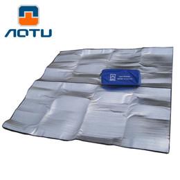 Wholesale Beach Mat Sides - Outdoor camping mat air mattress picnic blanket picnic mat pads Aluminum Foil mats Double Side Camping Dampproof beach mat 168