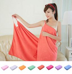 Wholesale Fasting Spa - Magic Bath Towels Lady Girls Wearable Fast Drying Bath Towel Beach Spa Bathrobes Bath Skirt KKA2129