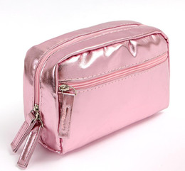 Wholesale Travel Wash Bag Wholesale - 2017 new arrived fashion waterproof cosmetic bags Korean version PU leather wash bag storage bag travel make up bag colorful