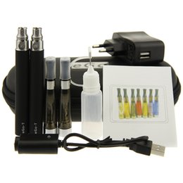 Wholesale Ego Ce5 Double Starter Kit - eGo CE5 Double Starter Kit 650mAh 900mah 1100mAh eGo T battery CE5 atomizer Electronic Cigarette Kit