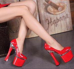 Wholesale Red Flower High Heels - Fashion Sexy Women High Heels 20 CM 2017 Spring Stylish Crystal Platform Women Pumps Ladies Red High Heels Wedding Party Shoes