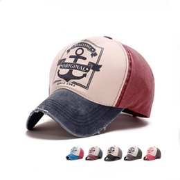 d91ceb26375 New arrival Spring and summer do old hole shade hat men and women  personality pirate anchor baseball cap SMB051