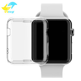 Wholesale Opp Bag For Watch - Watch Screen Case TPU Abrasion-resistant Anti-scratch Screen Protector Shell for Apple Watch iWatch Series 1 2 38mm 42mm Clear with opp bag
