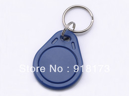 Wholesale Key Card Duplicator - Wholesale-100pcs bag RFID key fobs 125KHz EM4305 proximity ABS key tags readable and writable copy duplicator card tags access control
