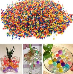 Wholesale Magic Flower Beads - 2.5-3mm Glowing Pearls Crystal Water Beards Flower Plant Crystal Soil Gel Jelly Party Wedding Décor magic Jelly balls KKA2195