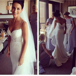 Wholesale Wedding Gowns Online China - Cheap Simple Mermaid Wedding Dresses 2017 Shop Online China Spaghetti Straps Handmade Bridal Gowns Vestido Noiva Sereia