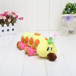 "Wholesale Mario Bros Wiggler Toy - Wholesale-Super Mario Bros Plush 11"" Wiggler Plush Figure Soft Doll Toy Free Shipping"