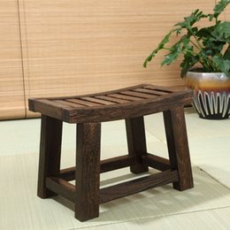 Wholesale Smallest Portable Stool - Japanese Antique Wooden Stool Bench Paulownia Wood Asian Traditional Furniture Living Room Portable Small Wood Low Stool Design