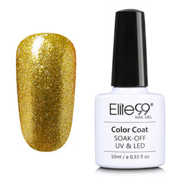 Wholesale Nails Polish Gold - Wholesale- Elite99 Bling Alcohol Removabel One Step Nail Polish Gel Varnish Most Healthy Manicure 10ml Polish Gel Lacquer
