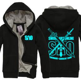 Wholesale Art Online Games - Anime Sword Art Online SAO Cosplay Jacket Sweatshirts Thicken Hoodie Coat