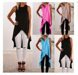 Wholesale S Z1 - 2016 Summer Sexy Women Asymmetrical Cut Out Bandage Bodycon Chiffon Party Dresses Casual Loose High Low Beach T Shirt Dress Z1