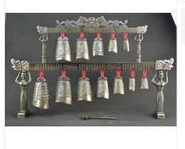 Wholesale Musical Folk Instruments - Exquisite Chinese Old Collectible Decoration Copper Classical Musical Instrument Chime decoration bronze factory outlets