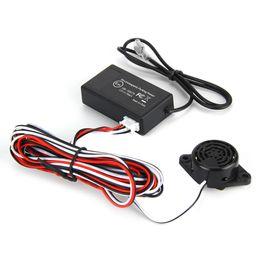 Wholesale Electromagnetic Sensor Parking - New Electromagnetic Black Auto Car Parking Sensor Car Detector Reversing Reverse Backup Radar With Buzzer Alarm No Drill No Hole