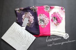 Wholesale Square Lace Scarves - Mc q woman fashion brand rose floral silk scarf super cool Skull Scarf square Shawl scarves.