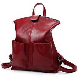 Wholesale top girls backpack - Women Backpack High Quality PU Leather Mochila Escolar School Bags For Teenagers Girls Top-Handle Large Capacity Student Package
