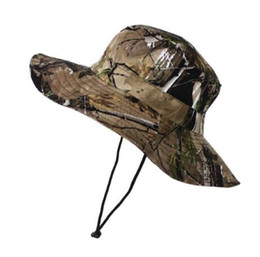 Wholesale Bucket Hat Mens - Tactical Airsoft Sniper Camouflage Boonie Hats Nepalese Cap Militares Army Mens Military Hiking Hats Summer Bucket Hat Fishing