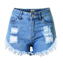Wholesale Best Softener - Wholesale- Best Selling Summer Brand New Sexy Lady Women's Jeans Pants High Waist Holes Fashion Slim Denim Shorts