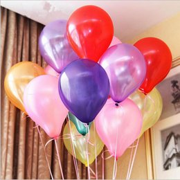 Wholesale Orange Black Balloons - 12 Colors 10 Inches Latex Round Party Balloon Wedding Balloon Decoration Balloon Party Supplies 100pcs lot