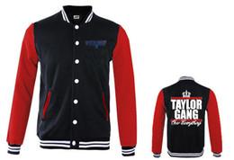 Wholesale Women Plus Size Baseball Jacket - 2017 sport men and women taylorgang hip hop jacket baseball coat thick cotton good quality plus size xxxl streetwear baseball jacket