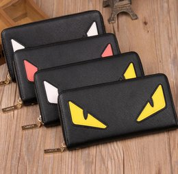 Wholesale Wallet Cute - NEW Little monster accordion wallet in genuine stingray leather   Most popular cute monster purse in wholesale Free shipping