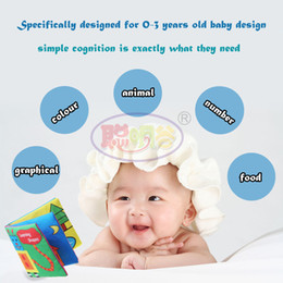 Wholesale Soft Cloth Books For Infants - CongMingGu Cloth Book Children Educational Toys Soft Fabric Animals English Learning Story Quiet Book For Newborn Baby