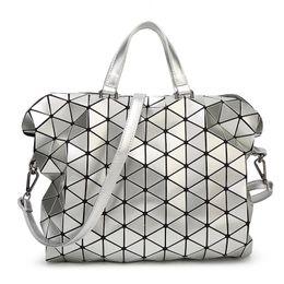 Wholesale Fashion Briefcases - Wholesale- TONNEAU BOSTON Triangular Lattice women men Briefcase rhombus Splice fashion baobao girl or OL Ladies handbags for from Japan