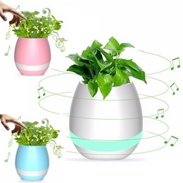 Wholesale Real Audio Music - Bluetoth Smart Touch Sensing Music Flowerpots with LED USB Charge Waterproof Real Plant Flowerpots (whitout Plants)