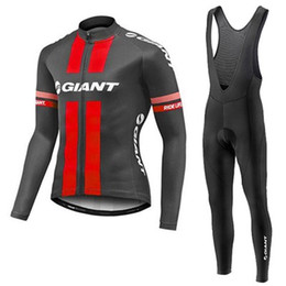 Wholesale Giant Winter Thermal - 2017 GIANT pro cycling jersey Winter Thermal Fleece ropa ciclismo maillot ciclismo bicicleta bike cycling clothes roupa ciclismo BIB sets