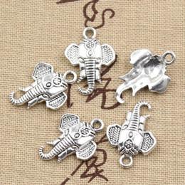 Tibetischen silbernen armband elefanten online-Wholesale-99Cents 12pcs bezaubert Elefantkopf 22 * 16mm Antike, die passendes, Weinlese-tibetanisches Silber, DIY Armbandhalskette herstellt