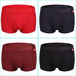 Wholesale wholesale organic cotton panties - 4pcs lot Mens Underwear Cotton Boxers Underpants Breathable Boxer Shorts Men Panties Sexy Male Underwears cueca masculina