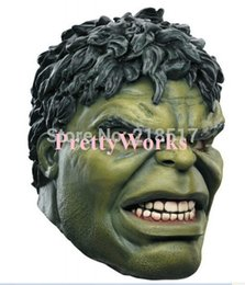 Wholesale Full Latex Hood - Wholesale- Free Shipping Head Rubber Latex Mask Cartoon Hulk Mask Hood for Carnival and Party Halloween Adult Size D-1791