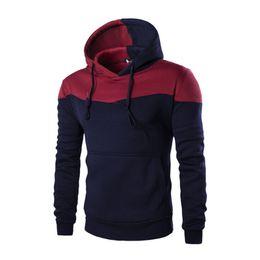 Chándal originales online-Otoño Hombres Chándal Hombre Hoodie Hit Color Original Diseño Casual Pullover Hip Hop Sudadera Slim Fitness Hombres Hoody