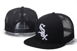 Wholesale Black Trucker - 2017 New Men's Chicago White Sox Mesh Snapback Hats Black Color Fashion Hip Hop Summer Sports Adjustable Baseball Trucker Caps