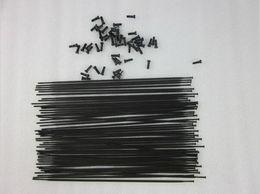 Нержавеющая сталь 14 г онлайн-Столб PSR 24 шт. / Лот Aero 1432 из нержавеющей стали с черным J-образным изгибом с плоскими спицами 14G Резьба FG 2.3 со свободными латунными сосками