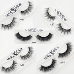 Wholesale Thick Eyelashes Pack - Wholesale- Visofree Mink Eyelashes Long Thick Dramatic Lashes Handmade Mink Fur False Eyelashes For Makeup 1 Pair Pack